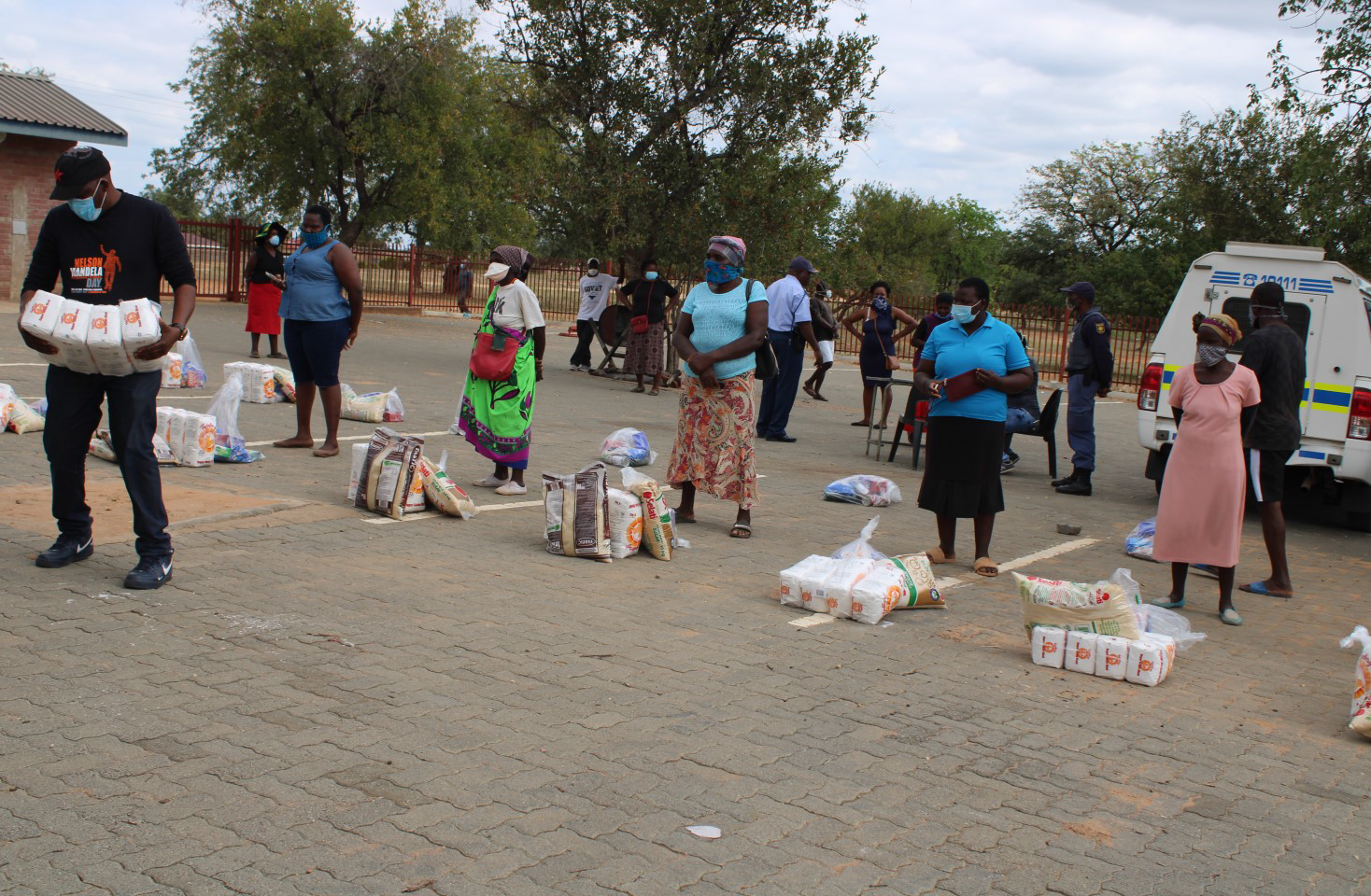 PMC provides 96 households with food parcels